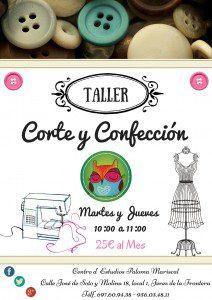 cartel corte y confeccion