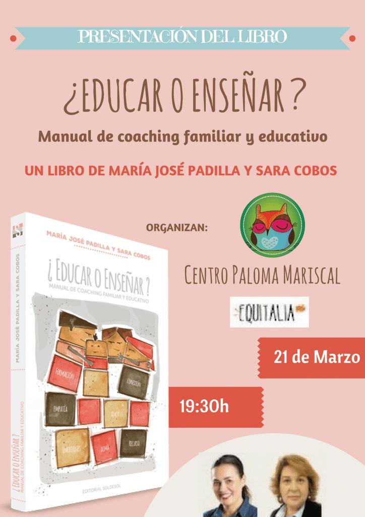 PRESENTACION DEL LIBRO EDUCAR O ENSEÑAR