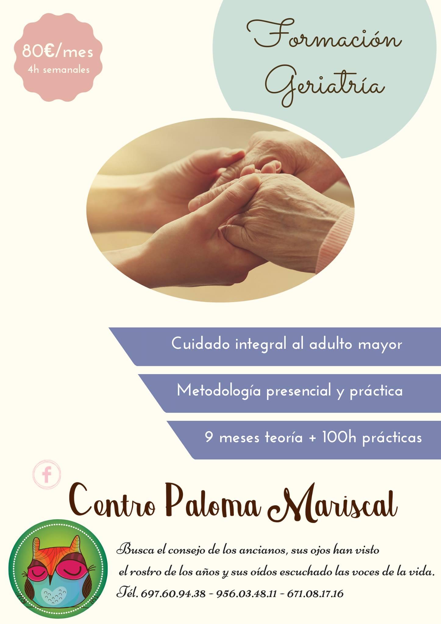 Formación Geriatría Centro Paloma Mariscal